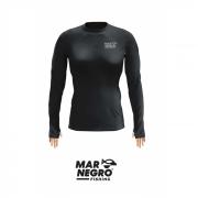 Camiseta Feminina Mar Negro Fishing Poliamida - Preto Ref. 49272
