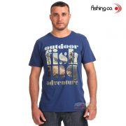 Camiseta Fishing co. Casual Adventure Azul Ref. 1094