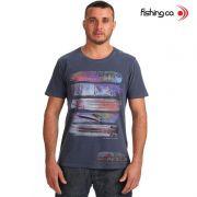 Camiseta Fishing co. Casual Apetrechos Marinho Ref. 1091