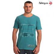 Camiseta Fishing co. Casual Caiaque Verde Ref. 1092