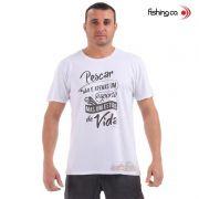 Camiseta Fishing co. Casual Pescar/Estilo de Vida Branco Ref. 1098