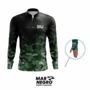 Camiseta Mar Negro Fishing Camuflada Ref. 30098
