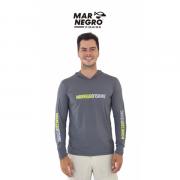 Camiseta Mar Negro Fishing  Masculina C/ Capuz 2020 - Chumbo  Ref. 30115