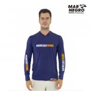Camiseta Mar Negro Fishing  Masculina C/ Capuz 2020 - Marinho Ref. 30115
