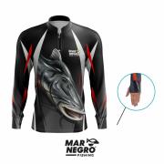 Camiseta Mar Negro Fishing Piraíba Ref. 30098