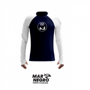 Camiseta Mar Negro Fishing Poliamida c/ Manga Colorida Marinho/Branco Ref. 30099