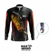 Camiseta Mar Negro Fishing Tucunaré Açu Ref. 30098