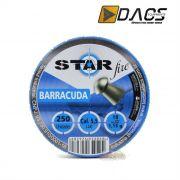 Chumbinho Dacs Star Fire Barracuda 5,5mm - Latinha c/ 250 unidades