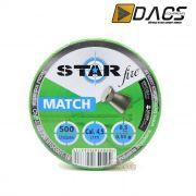 Chumbinho Dacs Star Fire Match 4,5mm - Latinha c/ 500 unidades