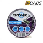 Chumbinho Dacs Star Fire Pro-Hunter 5,5mm - Latinha c/ 250 unidades