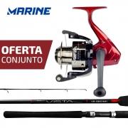 Conjunto Marine Sports Molinete Vista 4000 + Vara Vista 6'0