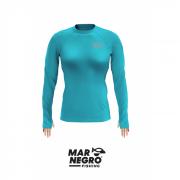 Camiseta Feminina Mar Negro Fishing Poliamida - Azul Piscina Ref. 49272