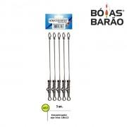 Encastroador Aço inox Boias Barão - Cartela com 5 unidades