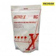 Esferas Plásticas Rossi Action X BB 6mm - Munição para Airsoft 0,20 g -  5.000 un