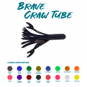 Isca Artificial Brave Worm - Brave Craw Tube 10cm - 1 unidade