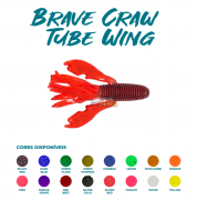 Isca Artificial Brave Worm - Brave Craw Tube Wing 11cm - 1 unidade