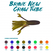 Isca Artificial Brave Worm - Brave New Craw Tube 11cm