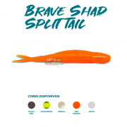Isca Artificial Brave Worm - Brave Shad Split Tail 10cm