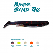 Isca Artificial Brave Worm - Brave Shad Tail 10cm - 1 unidade