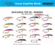Isca Artificial Capitão Hook TOP 09 Saicanga - 6,5cm