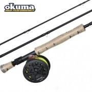 Kit Fly Okuma - Conjunto Carretilha Cascade CS 4/6 + Vara Cascade CS-903-5
