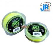 Linha monofilamento JR PESCA Soft Bass Nylon 300m Amarela