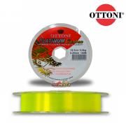 Linha Monofilamento Ottoni Platinum Carbon Amarela 100m