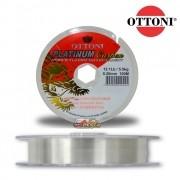Linha Monofilamento Ottoni Platinum Carbon Clear 100m - Transparente