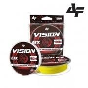 Linha Multifilamento Albatroz Vision 8X Amarela - Carretel com 150m