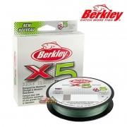 Linha Multifilamento Berkley Braid Tresse X5 Verde - Carretel com 300m