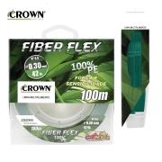 Linha multifilamento Crown Fiber Flex 100% PE 4X 100m - Verde Musgo