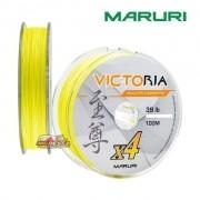 Linha Multifilamento Maruri Victoria 4X Amarela - Carretel com 100m