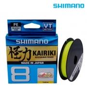 Linha Multifilamento Shimano Kairiki Mysterious Power 8 - 150m Yellow (Amarela)
