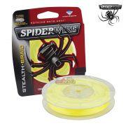 Linha multifilamento Spiderwire Stealth Braid 300Yds - Amarela