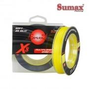 Linha Multifilamento Sumax Samurai X8 Amarela - Carretel com 300m - SMY-X8-Y
