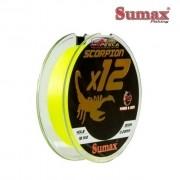 Linha Multifilamento Sumax Scorpion X12 Amarela - Carretel com 300m - SC-300-X12
