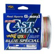 Linha Multifilamento YGK G-Soul Super Cast Man Ultra WX8 Blue Special 200m