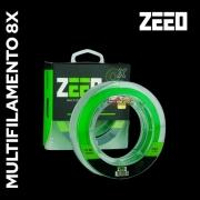 Linha Multifilamento ZEEO 8X Verde Fluorescente - 150m