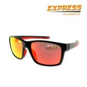 Óculos Polarizado Express Caraiva Vermelho - Garantia de 1 ano