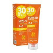 Protetor solar Sunlau com repelente de insetos FPS 30 UVA/UVB com Icaridina e vitamina E - Adulto e Infantil