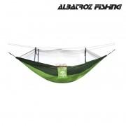 Rede para descanso Albatroz com Mosquiteiro DC-W02 Verde/Verde Escuro