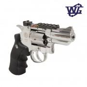 Revolver de Pressão Rossi Wingun Gás WG Cromado 708S 2POL CO2 Esferas aço 4,5mm