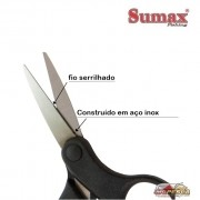 Tesoura Sumax Braided Line Scissors SU-1906 - Serrilhada