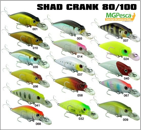 Isca Artificial Sumax Shad Crank 80  - MGPesca