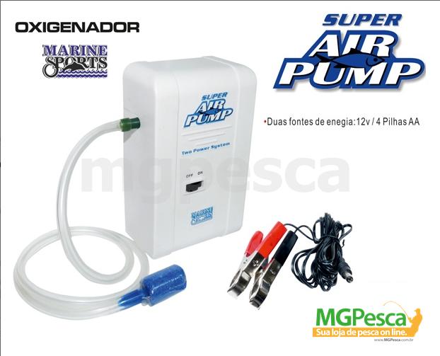 Aerador / Oxigenador Marine Sports Super Air Pump  - MGPesca
