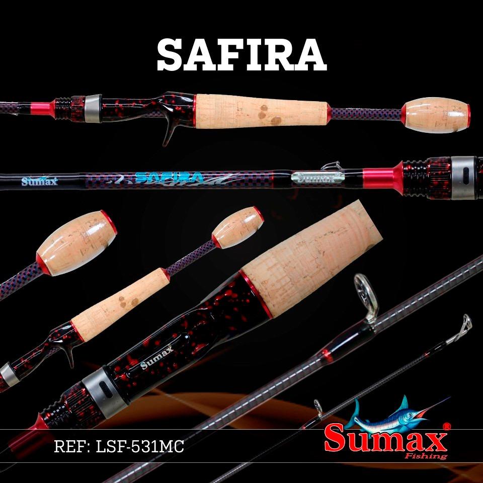 """Vara para carretilha Sumax Safira 6"""" (1,83m) 25 Lbs - LSF-601HC  - MGPesca"""