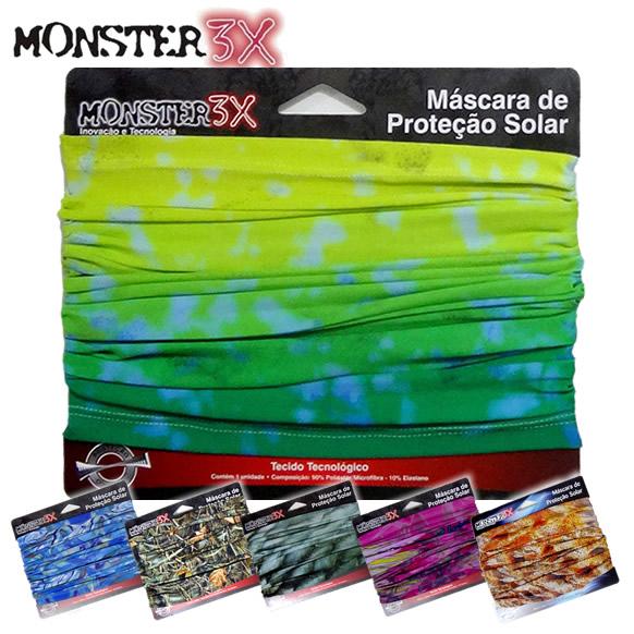 Máscara de Proteção Solar com Filtro UV Monster 3X  - MGPesca