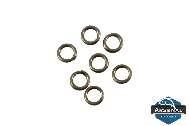 Argola Split Ring em Aço Inox Arsenal da Pesca - Cartela com 20 unidades  - MGPesca