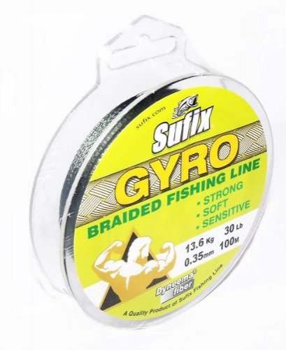 Linha Multifilamento Sufix Gyro Braided Fishing Line - Dyneema Fiber - 100m  - MGPesca