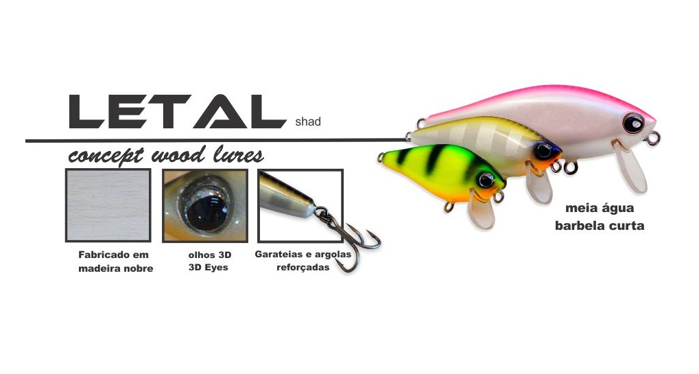 Isca Artificial OCL Lures Letal Shad 70  - MGPesca